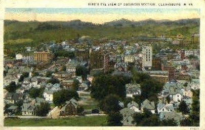 Business Section  - Clarksburg, West Virginia WV Postcard