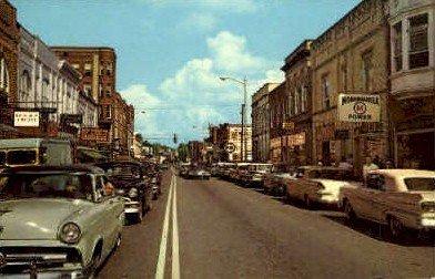 Main Street  - Buckhannon, West Virginia WV Postcard