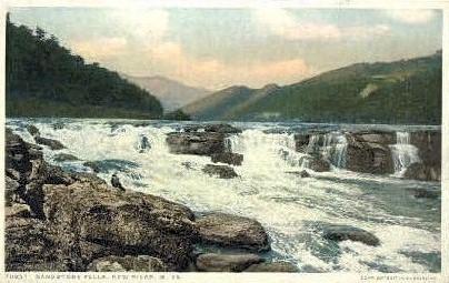Sandstone Falls - New River, West Virginia WV Postcard