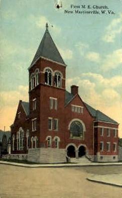 First M.E. Church  - New Martinsville, West Virginia WV Postcard