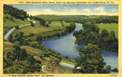 Little Kanawha River  - Charleston, West Virginia WV Postcard