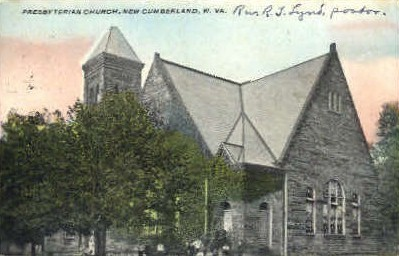 Presbyterian Church  - New Cumberland, West Virginia WV Postcard