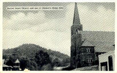 Sacred Heart Church - Chester, West Virginia WV Postcard
