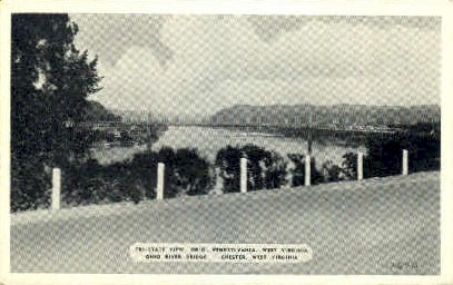 Tri-State View  - Chester, West Virginia WV Postcard
