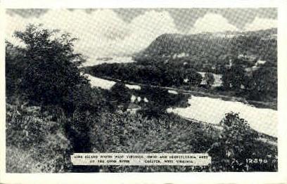 Line Island - Chester, West Virginia WV Postcard