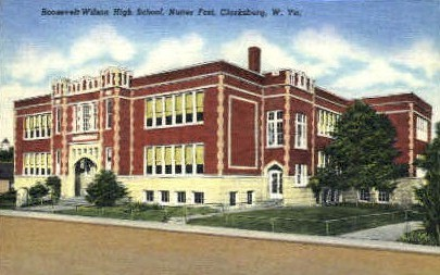 Roosevelt-Wilson High School  - Clarksburg, West Virginia WV Postcard