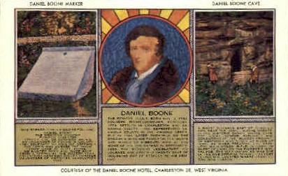 The Daniel Broon Hotel  - Charleston, West Virginia WV Postcard