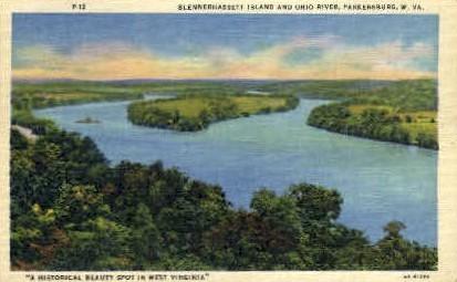 Blennerhassett Island & Ohio River  - Parkersburg, West Virginia WV Postcard