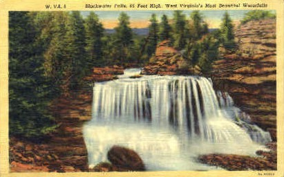 Blackwater Falls  - Tucker County, West Virginia WV Postcard