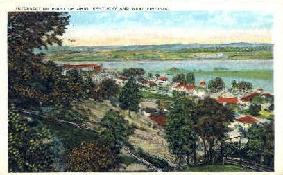 Point of Ohio, Kentucky & West Virginia - MIsc Postcard