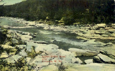 Pygart Valley River  - Fairmont, West Virginia WV Postcard