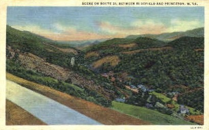 Route 21 - Bluefield, West Virginia WV Postcard