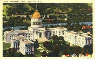 New State Capitol  - Charleston, West Virginia WV Postcard