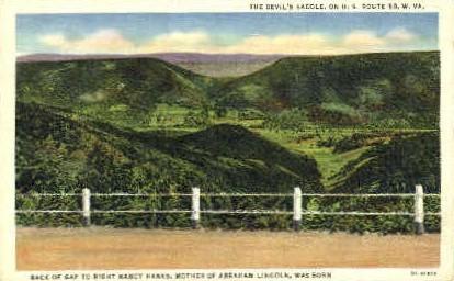 The Devil's Saddle  - MIsc, West Virginia WV Postcard