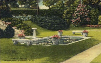 Sunken Gardens, Oglebay Park - Wheeling, West Virginia WV Postcard