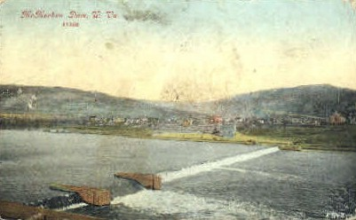 McMechen Dam  - MIsc, West Virginia WV Postcard