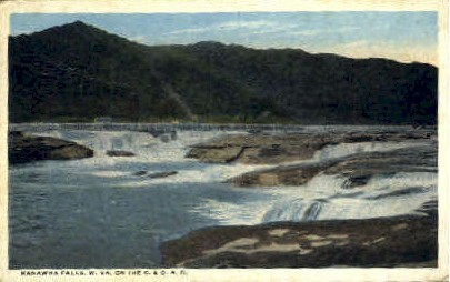 . - Kanawha Falls, West Virginia WV Postcard