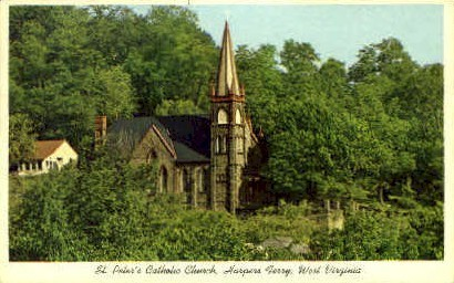 St. Peter's Catholic Church  - Harpers Ferry, West Virginia WV Postcard