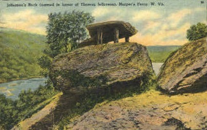 Jefferson's Rock  - Harpers Ferry, West Virginia WV Postcard