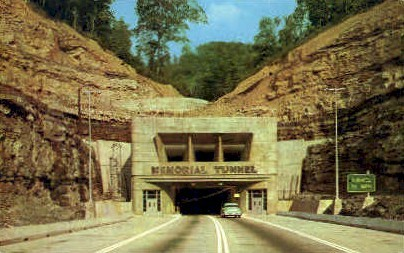 Memorial Tunnel - MIsc, West Virginia WV Postcard
