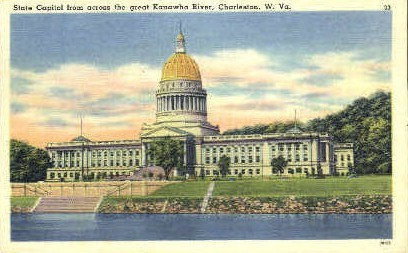 State Captiol  - Charleston, West Virginia WV Postcard