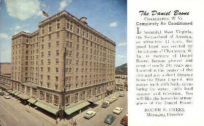 The Daniel Broon Hotel  - Charleston, West Virginia WV Postcard