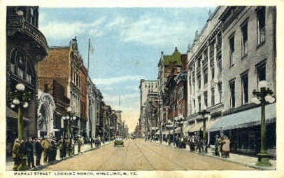 Market Street - Wheeling, West Virginia WV Postcard