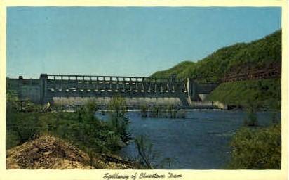 Spillway of Bluestone Dam  - MIsc, West Virginia WV Postcard