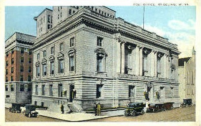 Post Office  - Wheeling, West Virginia WV Postcard