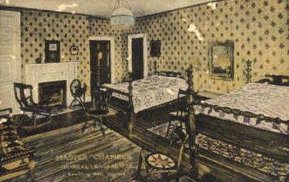 Master Chamber, General Lewis Hotel  - Lewisburg, West Virginia WV Postcard