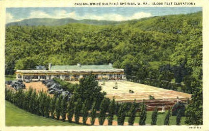 Casino  - White Sulphur Springs, West Virginia WV Postcard