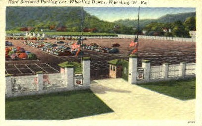 Hard Surfaced Parking Lot  - Wheeling, West Virginia WV Postcard