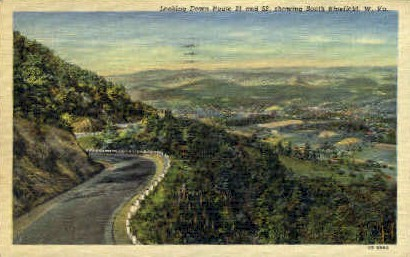 Route 21 & 52 - Bluefield, West Virginia WV Postcard