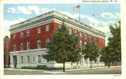 Frederal Building  - Elkins, West Virginia WV Postcard