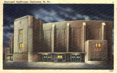 Municipal Auditorium  - Charleston, West Virginia WV Postcard