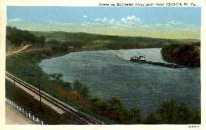 Kanawha River  - Point Pleasant, West Virginia WV Postcard
