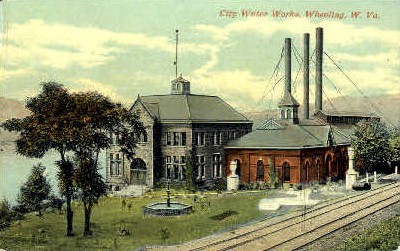 City Water Works  - Wheeling, West Virginia WV Postcard