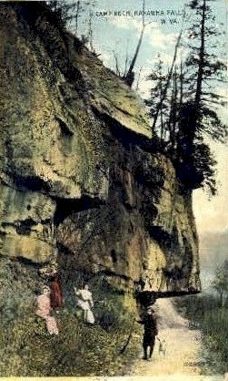 Camp Rock - Kanawha Falls, West Virginia WV Postcard