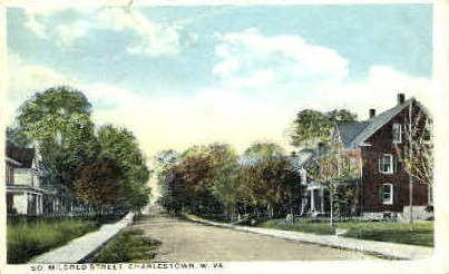 So. Mildred Street  - Charleston, West Virginia WV Postcard