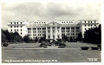 Real Photo, The Greenbrier  - White Sulphur Springs, West Virginia WV Postcard