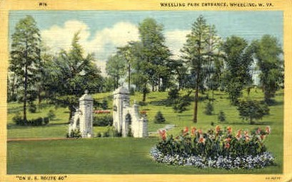 Wheeling Park - West Virginia WV Postcard