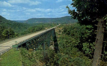 West Virginia Turnpike  - The Charlton Bridge Postcard