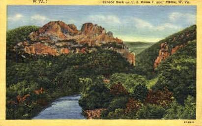 Seneca Rock  - Elkins, West Virginia WV Postcard