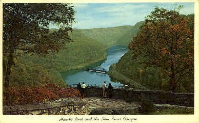 Hawks Nest Park - Ansted, West Virginia WV Postcard
