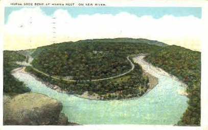 Horse Shoe Bend  - Hawks Nest, West Virginia WV Postcard