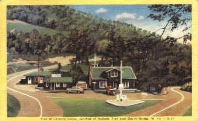Chimney Corner, Junction of Midland Trail - Gauley Bridge, West Virginia WV Postcard