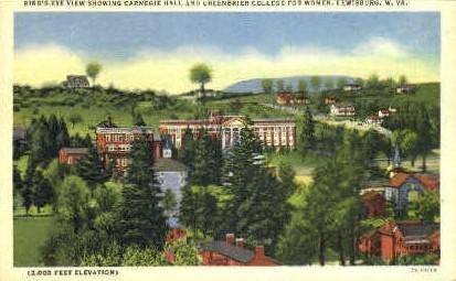 Carnegie Hall - Lewisburg, West Virginia WV Postcard