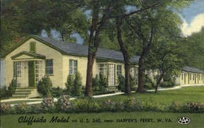 Cliffside Motel  - Harpers Ferry, West Virginia WV Postcard
