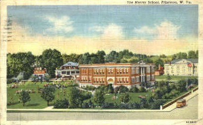 The Mercer School  - Princeton, West Virginia WV Postcard