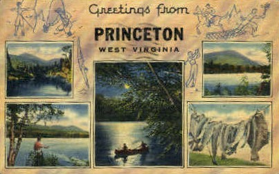 Princeton , West Virginia, WV Postcard
